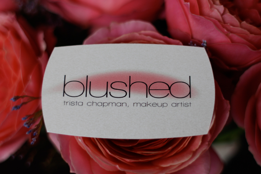 Blushed fargo air brush make up artist logo business card i worked with trista on the branding of her business and i created her logo and the fun business cards below colourmoves