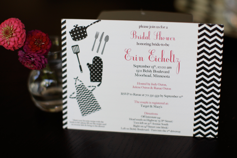 cooking themed bridal shower invites  u2013 fargo wedding  u0026 event invitations  u00bb lindsay arneson creative