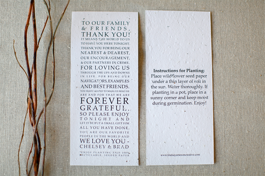 Eco Friendly Thank You Cards Wedding