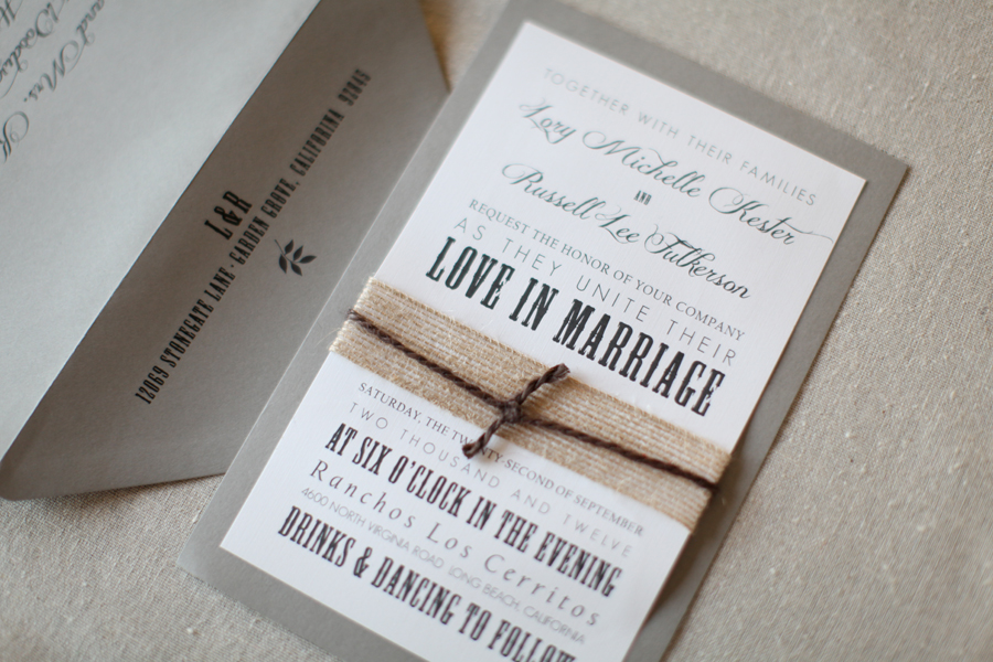 Long Beach, California Wedding Invitations